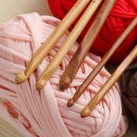 1 Set 12 pcs 6 Manico Di Bambù Uncinetto Maglia Mestiere di Lavoro A Maglia Ago Tessuto Lane e Filati 3-10mm accessori per il cucito