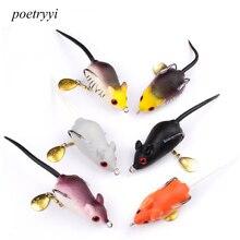 POETRYYI 5cm 9g Rat Lure Fly Fishing Fresh Water Soft Bait Sinking Jerkbait Hooks Insect Mouse Crankbait P30