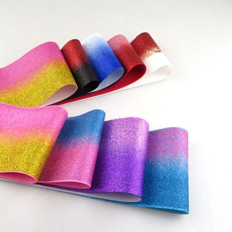 """Neue ankunft, 3 """"75mm Doppel farbe glitter ripsband mit vielen farbe für wählen, sehr weich zu machen großen bögen-in DIY-Bastelbedarf aus Heim und Garten bei  Gruppe 1"""