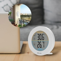 Table Wireless Thermometer LCD Display Indoor Outdoor Sensor Temperature Sensor #0628