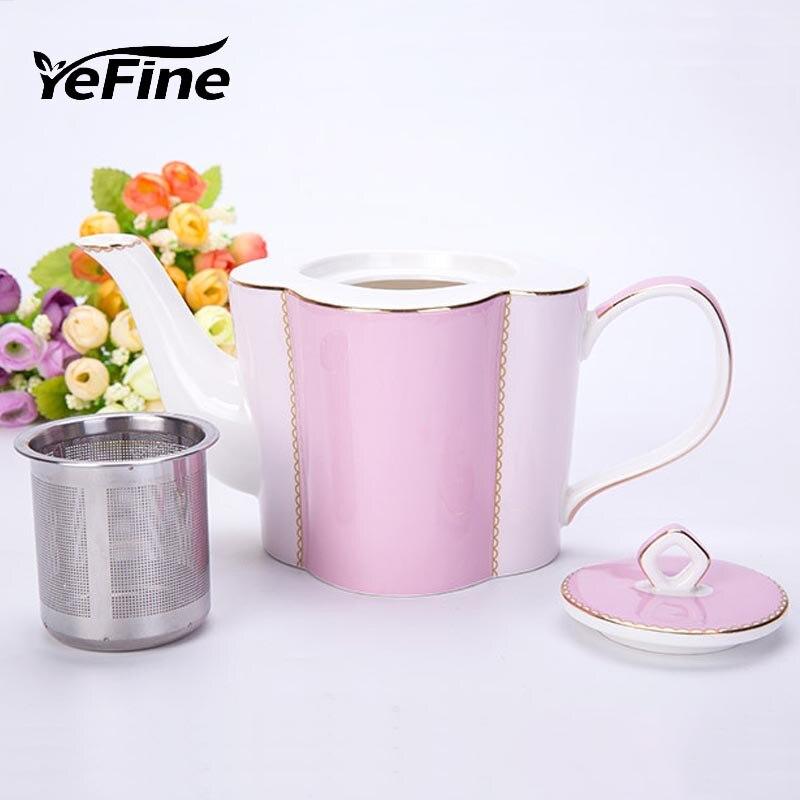 YeFine Avanzato di Ceramica Teiera di Tè Con Tè Infuser 650 ml Porcellana di Osso Bollitore Set di Caffè Pentola Articoli e Attrezzature per Acqua, Caffè, Tè Accessori Dropshipping