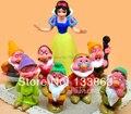 Juguetes blancanieves y Los Siete Enanitos figuras figuras PVC figuras Doll juguetes para niños Set de 8, envío gratis
