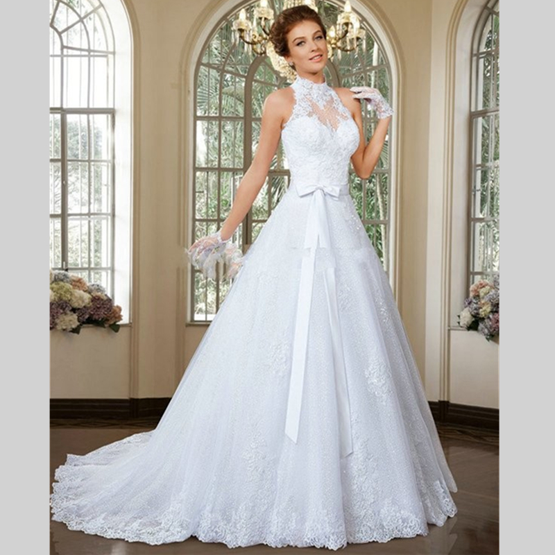 2017 Enchanting Halter Detachable Skirt Wedding Dresses With Bow Gowns China Online Vestidos De Noivas In From Weddings