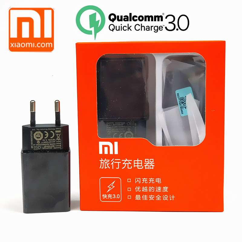 Original EU xiaomi mi6 Charger qc 3.0 Quick Charge adapter usb type C cable for mi 5 5s 6 8 se mi8 mi5 mi5s mix 2 2s a2 max 2 3-in Mobile Phone Chargers from Cellphones & Telecommunications