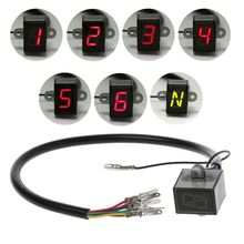 6-Speed Display Motor Gear Indicator Digital Waterproof Indication  Universal Off-Road Motocross Light Neutral Spare Parts For Mo