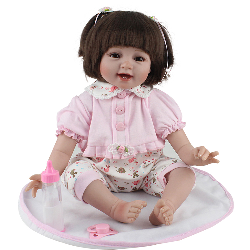 Bebe Reborn NPK Soft Silicone Reborn Baby Doll Girl Toys 52cm Lifelike Babies Boneca VInyl Fashion Dolls Menina Bebe Reborn NPK Soft Silicone Reborn Baby Doll Girl Toys 52cm Lifelike Babies Boneca VInyl Fashion Dolls Menina