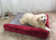 COXEER Set with 4 pcs Detachable Cat Dog Foam Bed Sofa Fits for Within 12.5kg Pets(Maroon, M)
