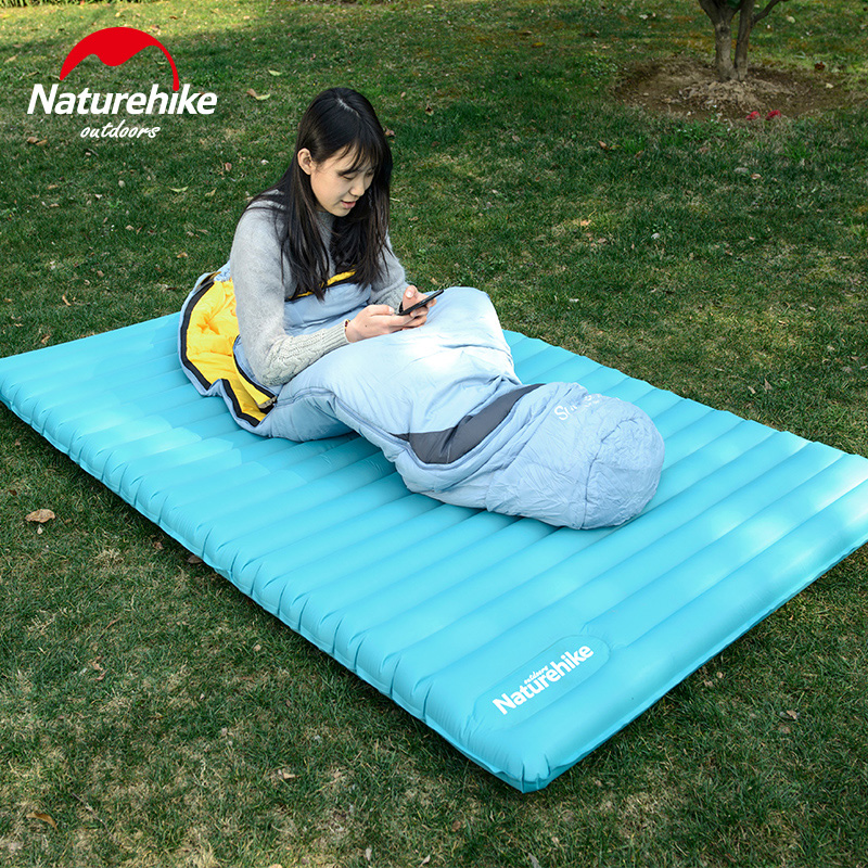 Naturehike Double Inflatable Sleeping Pad Press Type Air Mattress Outdoor Camping TPU Waterproof Mat NH17T120-UM/L