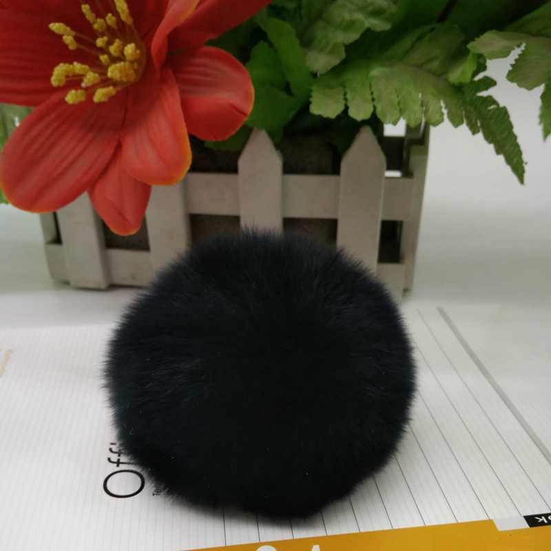 Simples Chaveiro Bola De Pêlo Pompom Pompom Chaveiro Saco Chaveiro Carro Coelho Artificial Peles De Animais Chaveiros Para Mulher 13 Cores