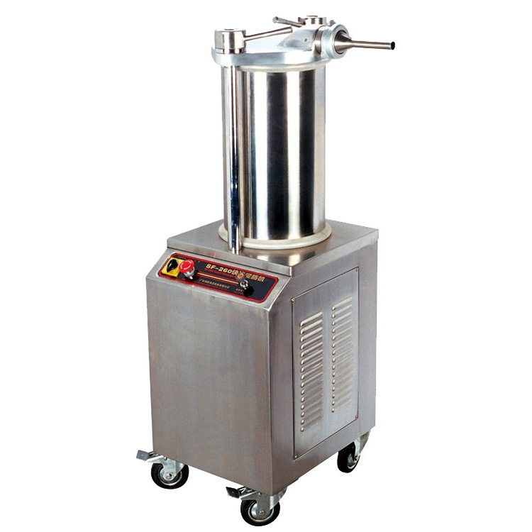 SF-260 Commercial Automatic Stuffer Filler Machine Stainless Steel Hydraulic Pressure Electric Sausage Stuffer Machine 220V 2