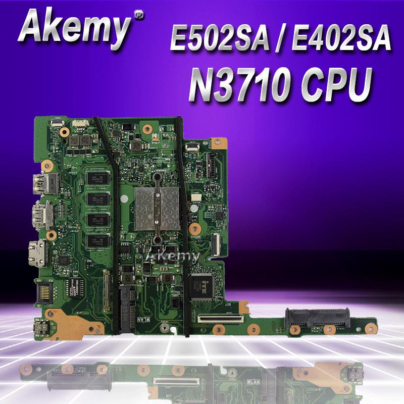 Akemy With N3710 CPU 8GB/RAM E502SA E402SA Laptop Motherboard For ASUS E502S E502SA E402S E402SA  Motherboard