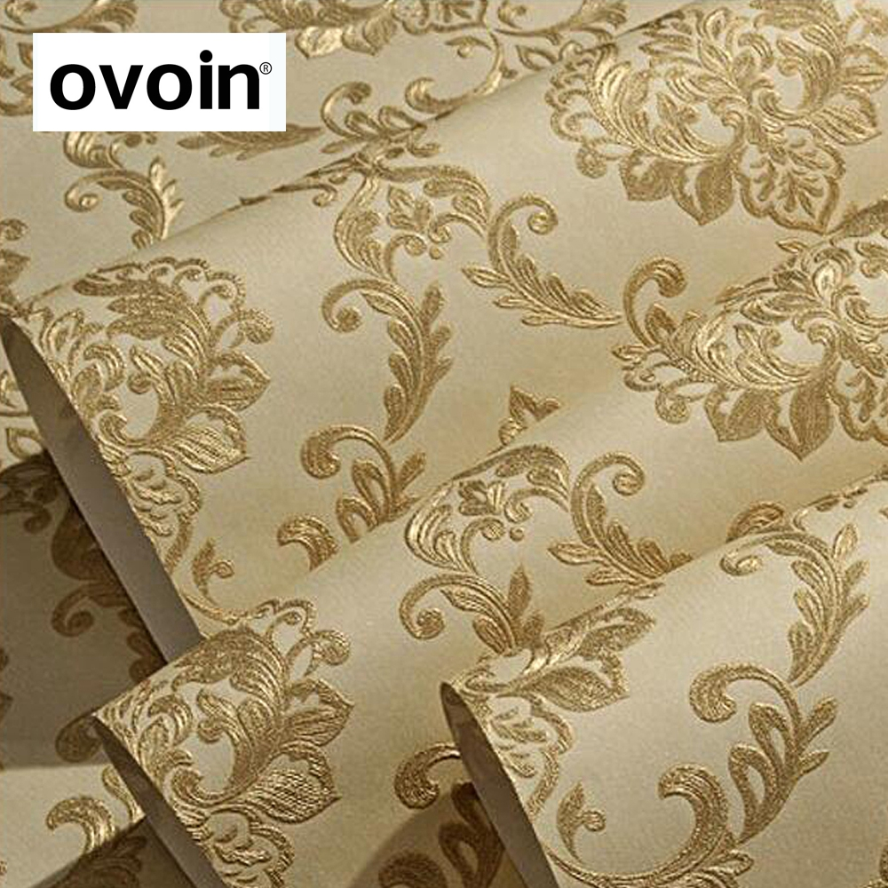 Eco Friendly Victorian Luxury Elegant Vinyl Large Damask