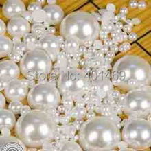 1000 x Lots 3mm semi-circle round flatback quality simulated resin pearl buttons scrapbooking DIY Applique accessories(China)