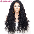 150% Density W Wave Glueless Full Lace Human Hair Wigs For Black Women Brazilian Lace Front Human Hair Wigs With Baby Hair