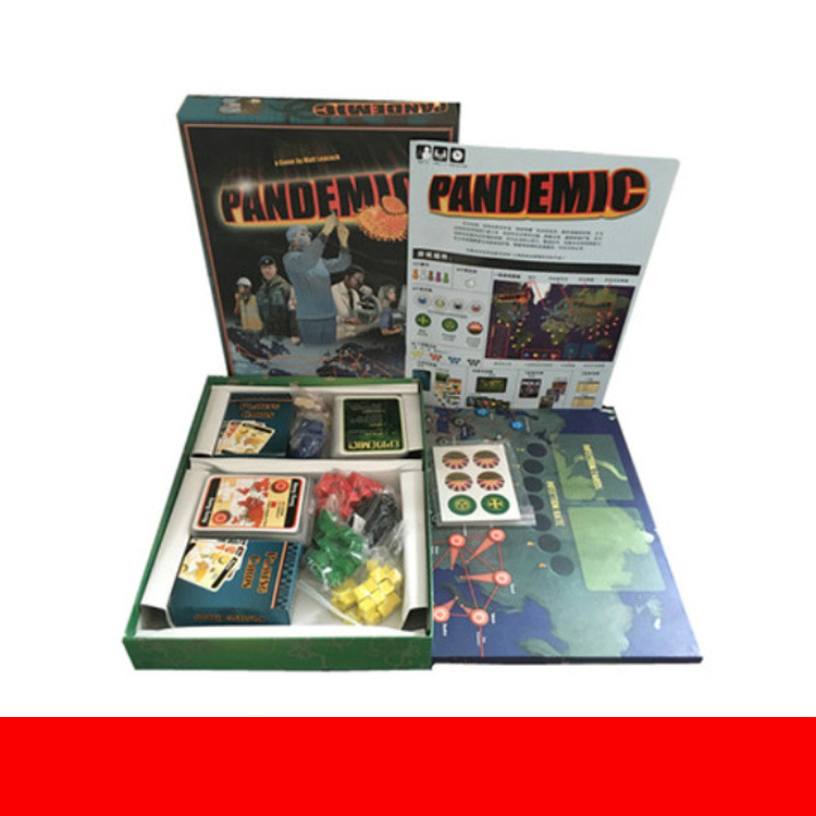 Pandemic Board Game Friend Family Interaction Paper Cards Strategic Reasoning Funny Party Game Children's Gifts image