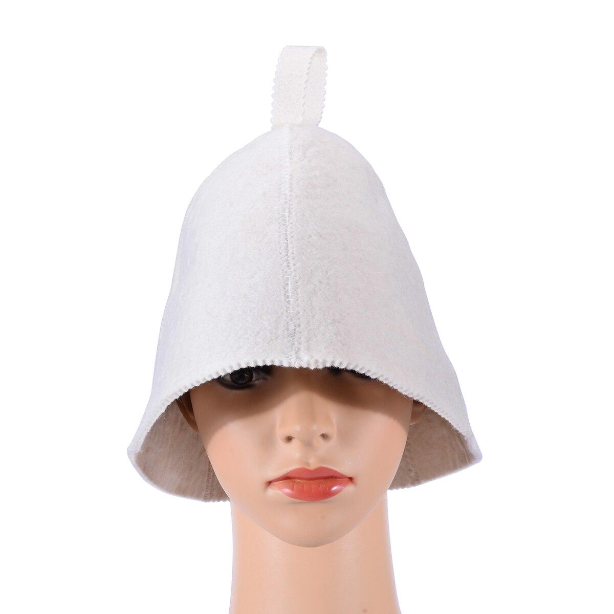 Classic Soft Wool Felt Sauna Steam Hat Bath Supply Cap Diameter 22cm Cute Shower Caps for Beauty Decor