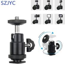 Universal Hot Shoe Adapter Cradle Ball Head with Lock for Camera Tripod LED Light Flash Bracket Holder Mount