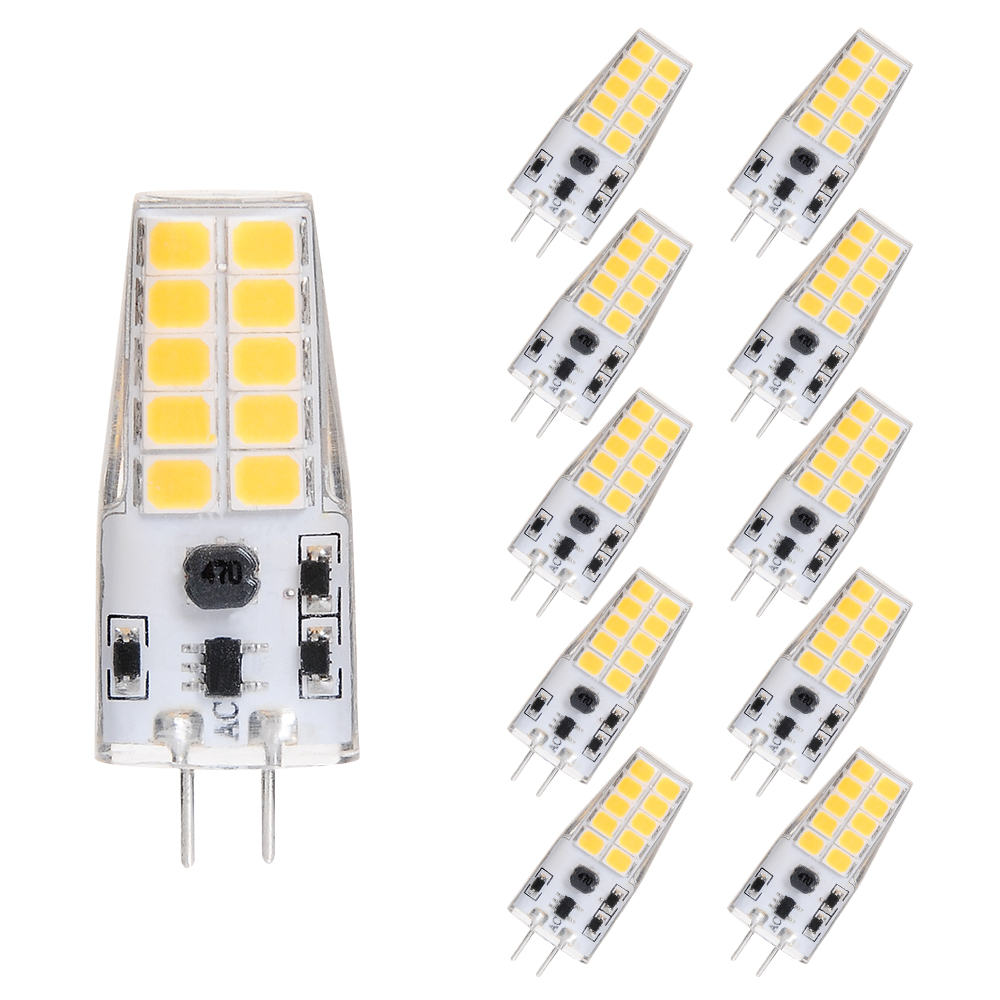 10X G4 LED Bin Pin Lamp AC/DC12V 5W 20pcs High Brightness 2835SMD LED Warm White Cool White Equal 40W Halogen Light Candle Bulb