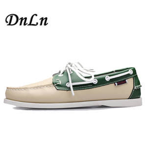 d3e3a9450c4 DnLn Suede Leather 2018 Men Loafers Moccasin Driving Shoes