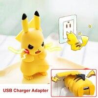 USB Ładowarka PM PRZEJŚĆ Pokedex Pikachu Anime Rysunek Zabawki chargeur carregador cargador UE Wtyczka Dla Telefonów Komórkowych Android