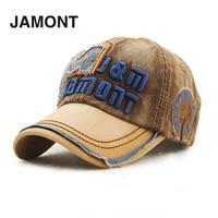 JAMONT Men Male Cotton Baseball Letter Pattern Cap Korean Outdoor Fashionable Casual Flats Cap 4 Colors Optional Sale