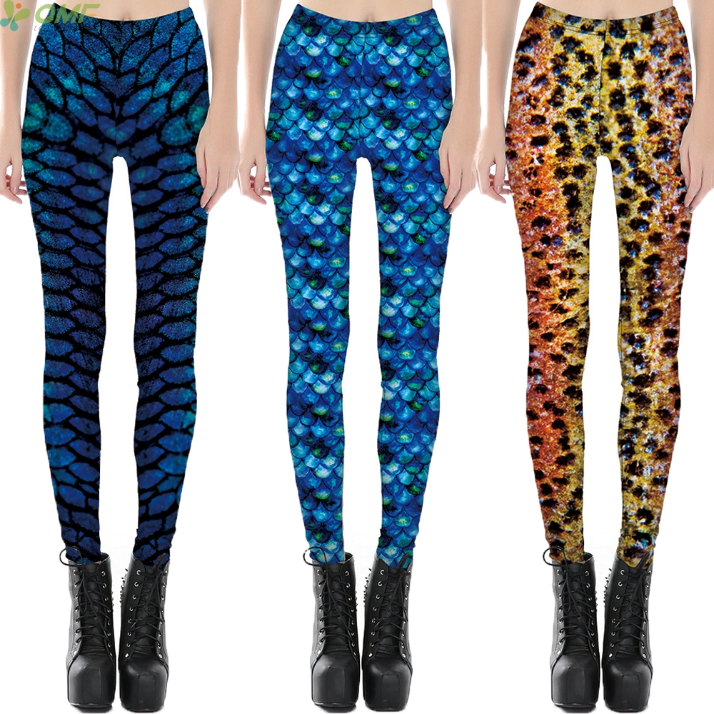 Pants S Xl Us 7 99 8 Off Women S Scale Leggings S Xl Size Simulation Mermaid Sexy Pants Digital Print Colorful Legging Cospaly Fish Scale Skinny Trousers In