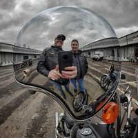 Casco de moto LDMET vintage, casco de moto ciclista cromo plateado para moto color café, espejo de carreras