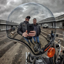 LDMET Винтаж moto rcycle шлем capacetes де ciclista harley серебристая, хромированная vespa cascos para кафе зеркало для гонщиков