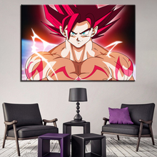 1 Panel Goku Poster Canvas Art HD Printed Type Painting Modern Home Wall Decorative Dragon Ball Z Super Animation Picture