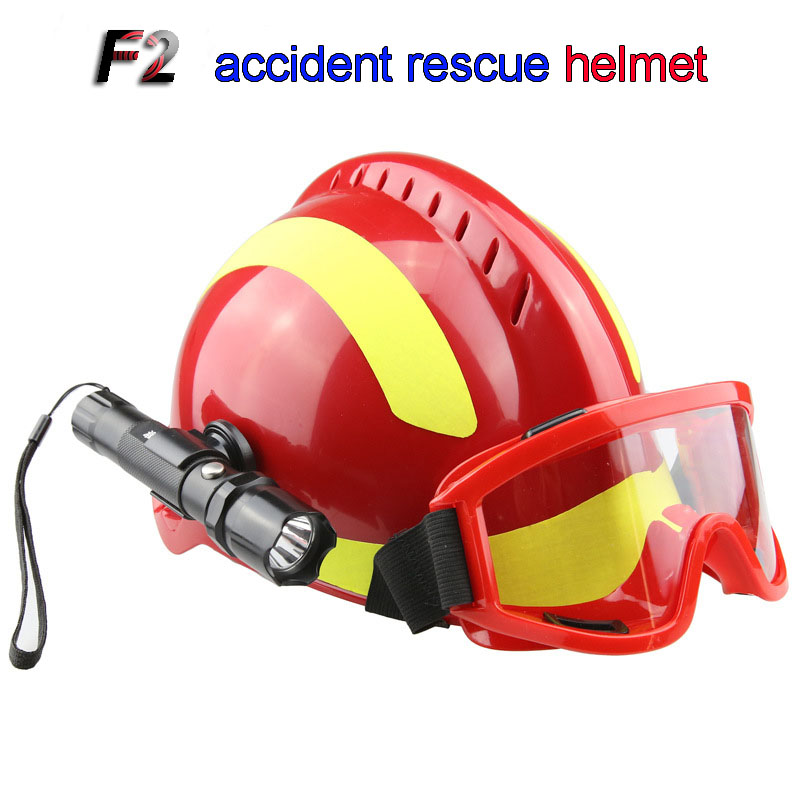 F2 Rescue helmet Safety helmet Safety goggles headlamp Battery not included First aid helmet Rescue fire