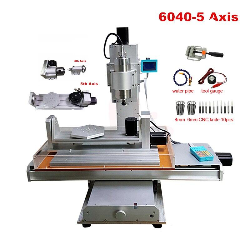 Machine de gravure verticale 6040 2.2KW CNC routeur en bois 5 axes avec un axe B axe sculpture sur bois machine