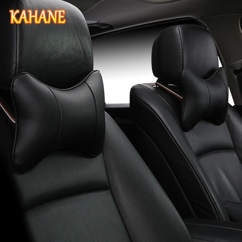 KAHANE 2x Car Styling Headrest Supplies Neck Auto Safety Black For Hyundai Tucson Creta Solaris I30 IX35 Volvo S40 S60 V40 XC90 ecotronic v40 u4l black