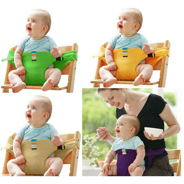 Baby Feeding Chair Portable Infant Baby Booster Seats Toddlers Children Safety Belt Feeding High Chair Harness Cadeira / Assento