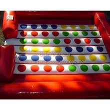 5*5m Inflatable Twister Game inflatable Right Foot And Left Hand Games Twister Mattress For Outdoor Event