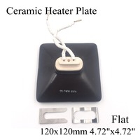120 120mm Black White 220V Flat IR Infrared Ceramic Heater Plate Air Heating Board Pad For