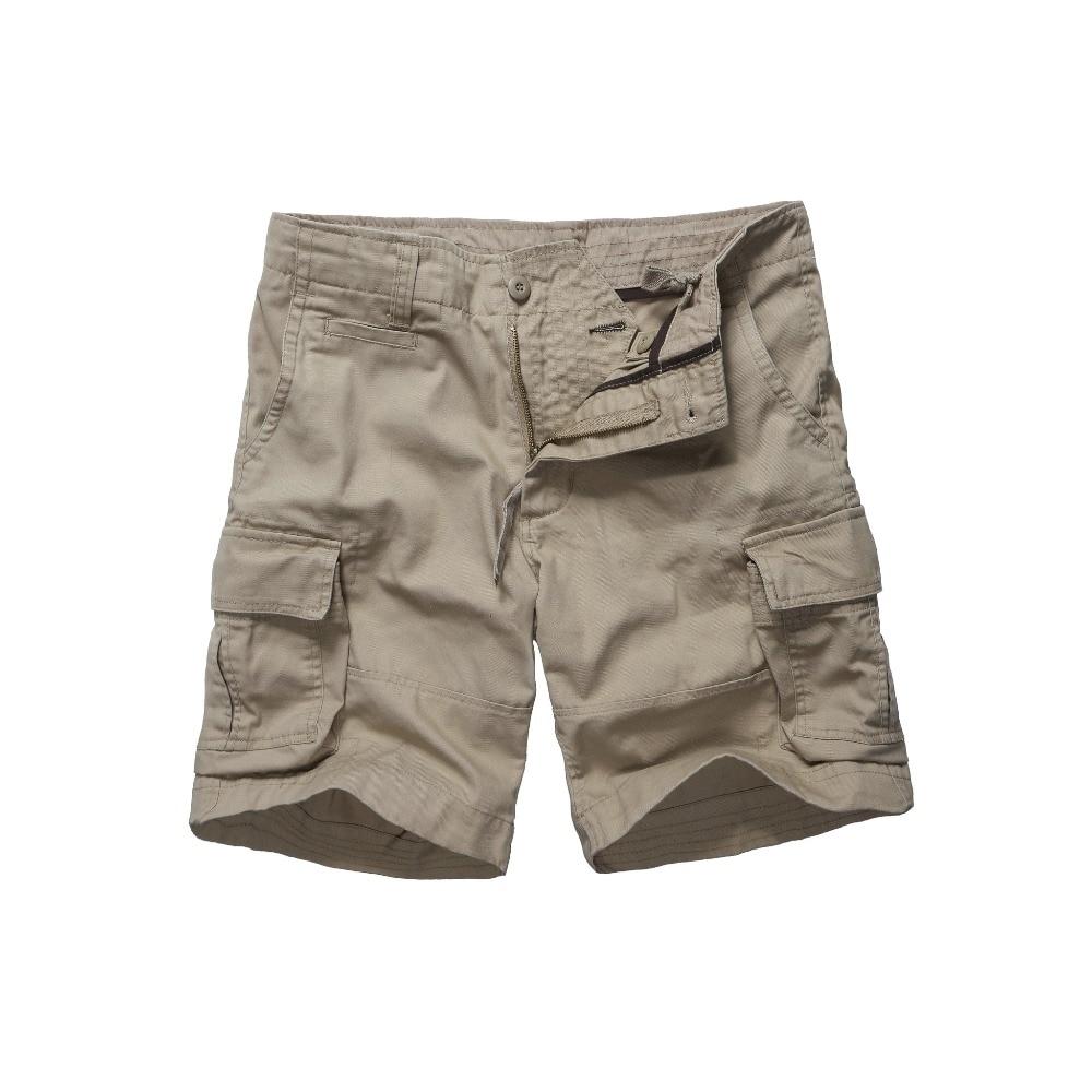 Mens Army Style Work Trade Durable Cargo Shorts Casual Multi-pockets Shorts -Black, Navy, Army Green And Khaki
