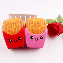 Squishy Toys Jumbo French Fries Elastic PU Stress Relief AntiStress Squishy Squeeze Toys Scented Poke it