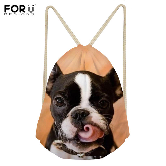 FORUDESIGNS Women s Sports Bag Drawstring Bags Cute Boston Terrier Printing  Yoga Training Athletic Bag Outdoor Fitness. Gallery. drawstring duffle ... e06c190090fe3