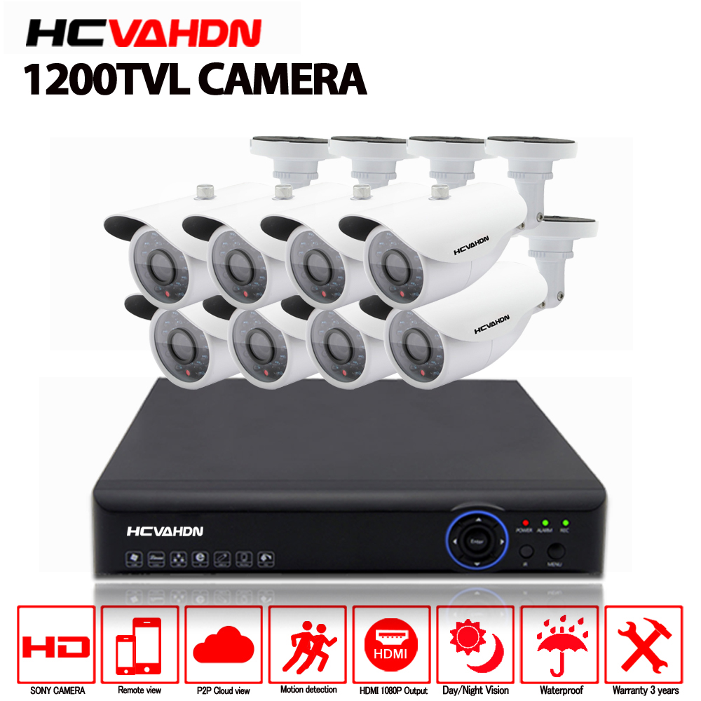8CH 1080P HDMI DVR 1200TVL HD Outdoor Surveillance Security Camera System 8 Channel CCTV DVR Kit AHD Camera Waterproof Set8CH 1080P HDMI DVR 1200TVL HD Outdoor Surveillance Security Camera System 8 Channel CCTV DVR Kit AHD Camera Waterproof Set