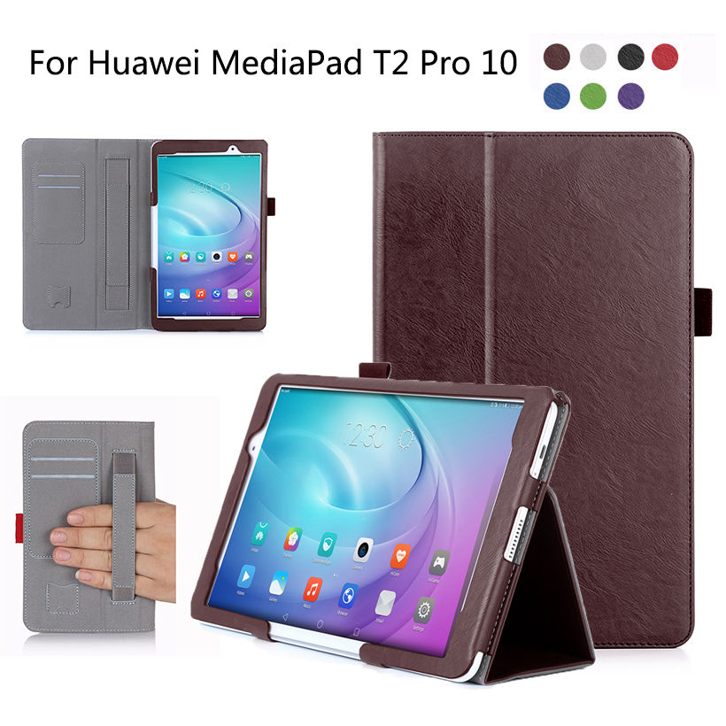High Qualtiy Cover For Huawei MediaPad T2 10.0 Pro Case Tablet FDR-A01W FDR-A03L PU Leather Stand Hand Holder Case Shell Funda mediapad m3 lite 8 0 skin ultra slim cartoon stand pu leather case cover for huawei mediapad m3 lite 8 0 cpn w09 cpn al00 8