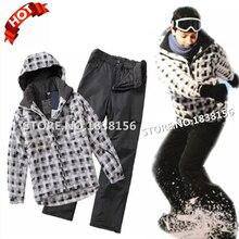 Hot Winter Children Clothing Set For Boy Kids Teenager Ski Suit Overalls 2 Pieces Windproof  waterproof Warm Snowsuits Set GN8