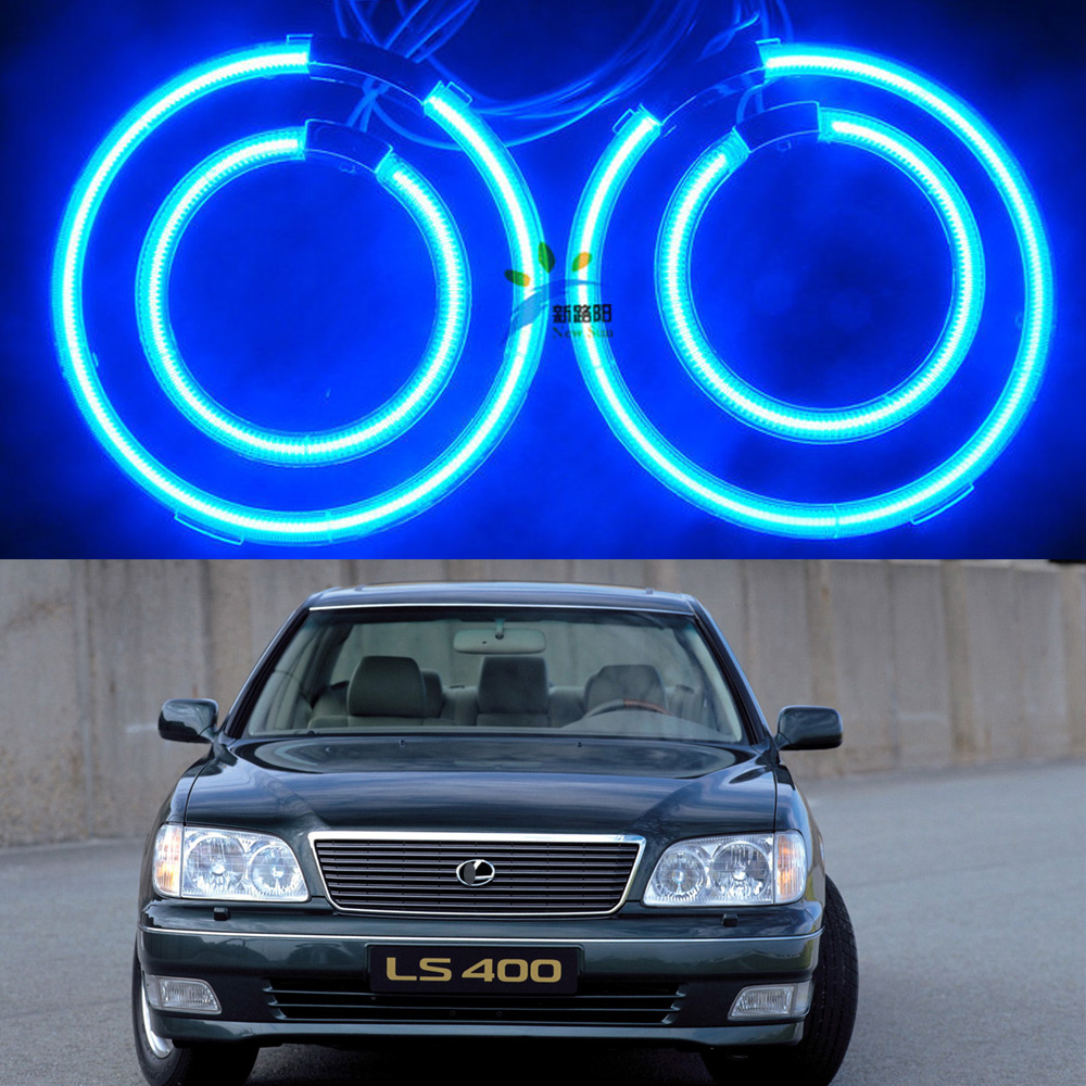 все цены на  Ultra bright illumination ccfl angel eyes kit Halo ring light For lexus LS400 1998 1999 2000 Excellent Xenon white Angel Eyes  онлайн
