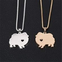 Pomeranian Dog Pendant Necklace
