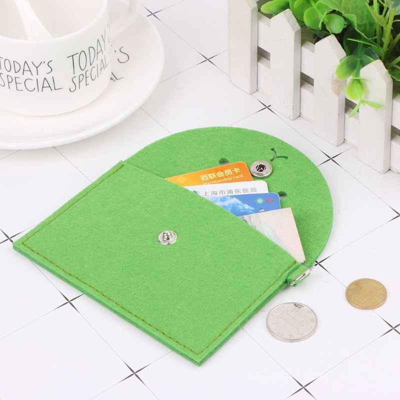 Мягкий фетровый кошелек для женщин и мужчин, кошелек с мультяшным медведем, клатч, небольшая сумка для мелочей