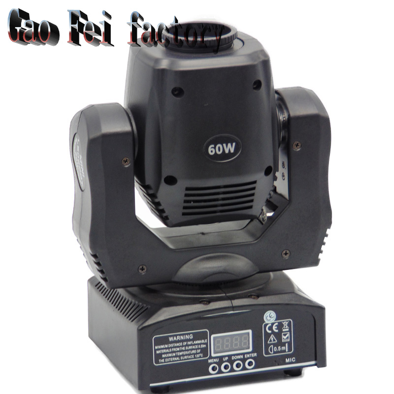 60W Led Mini Moving Head Light DJ Disco Party Music Gobo Stage Lighting Effect