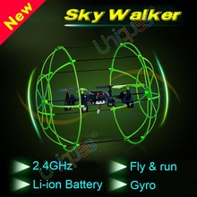 2015 Newest Sky Walker Matrix 1306 4CH RC Quadcopter Climbing Wall rc helicopter radio control Running