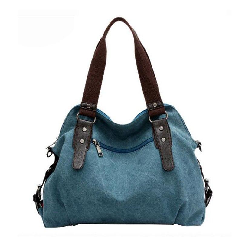 New Korean Trend Female Canvas Tote Bag Fashion Retro Single Shoulder Bags For Women Large Capacity Messenger Bag MT101164