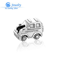 Wholesale 925 Sterling Silver Charms Christmas Car Bead Women DIY Jewelry Fits European Style Charm Bracelets