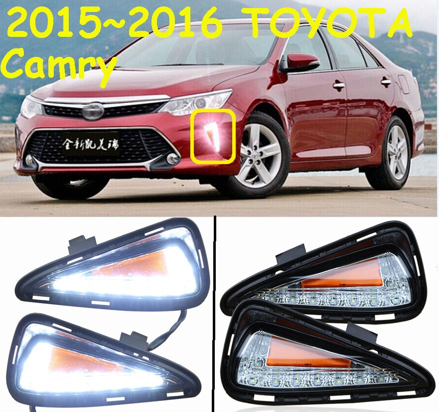 ФОТО car-styling,2012~2014/2015~2017 Camry daytime light,led,2pcs/set,Camry fog light;car-covers,chrome, Camry