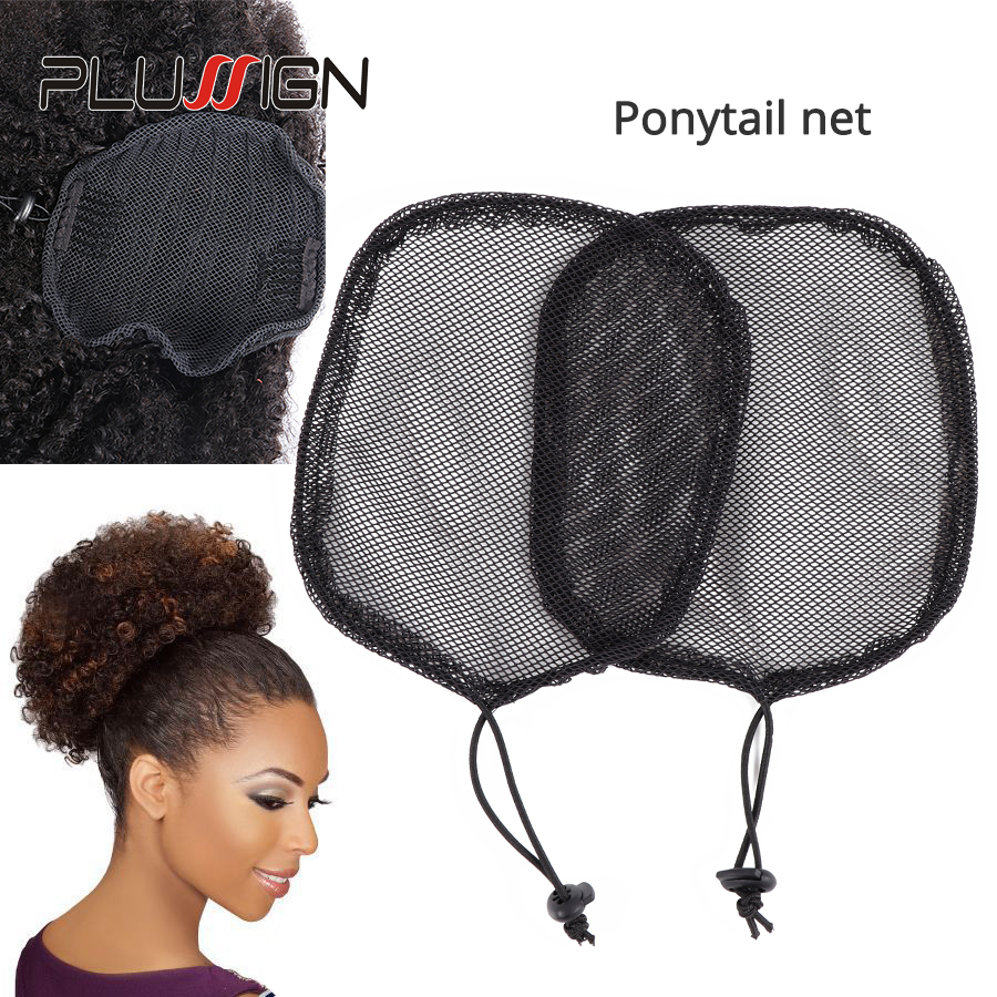 5Pcs/Lot Black Color High Quality Hair Net For Making Ponytail And Afro Hair Bun Wig Caps Hairnets Wholesale Price